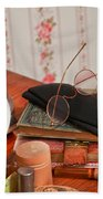 Vintage Reading Glasses Still Life Art Prints Bath Towel