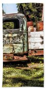 Vintage Rusty Old Truck 1940 Bath Towel