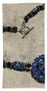 Vintage Sapphire Rhinestone Brooch Pendant Necklace 3635n Bath Towel