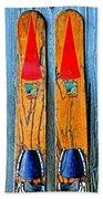 Vintage Skis Bath Towel