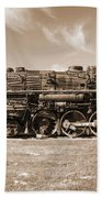 Vintage Steam Locomotive Bath Towel