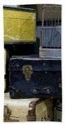 Vintage Suitcase Bath Towel