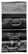 Vintage Suitcases Bath Towel