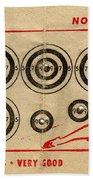 Vintage Target Card Bath Towel