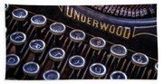 Vintage Typewriter 2 Bath Towel