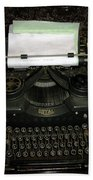Vintage Typewriter Mechanical Bath Towel