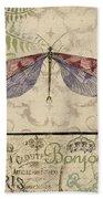 Vintage Wings-paris-f Bath Towel