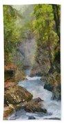 Vintgar Gorge Bath Towel