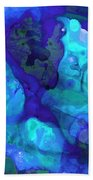 Violet Blue - Abstract Art By Sharon Cummings Hand Towel