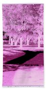 Violet Illusion Bath Towel