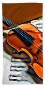 Violin Bath Towel