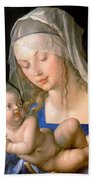 Virgin And Child Holding A Half-eaten Pear, 1512 Bath Towel