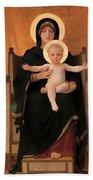Virgin And Child Bath Towel