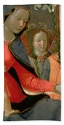 Virgin And Child With St John The Baptist And The Three Archangels Bath Towel