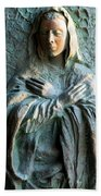 Virgin Mary Relief Bath Towel