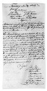Virginia Council, 1778 Bath Towel