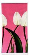 Visions Of Springtime - Abstract - Triptych Bath Towel