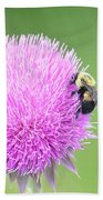 Visitor On Thistle Bath Towel