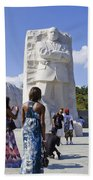 Visitors At The Martin Luther King Jr Memorial Bath Towel