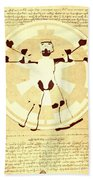 Vitruvian Stormtrooper Ghost Bath Towel