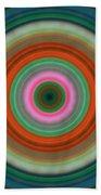 Vivid Peace - Circle Art By Sharon Cummings Bath Towel