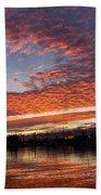 Vivid Skyscape - Summer Sunset At Toronto Beaches Marina Bath Towel