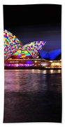 Vivid Sydney 2014 - Opera House 5 By Kaye Menner Bath Towel