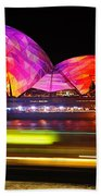 Vivid Sydney By Kaye Menner - Opera House ... Triangles Bath Towel