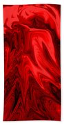 Red Volcanic Dreams Bath Towel