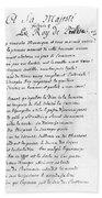 Voltaire Letter, 1740 Hand Towel