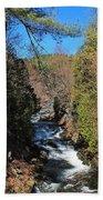 Wachusett Reservoir Spillway 2 Bath Towel