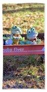 Wagon Full Of Frogs Bath Towel