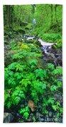 Wahkeena Falls In The Columbia River Gorge Bath Towel