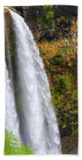 Wailua Falls Up Close Bath Towel