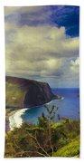 Waipo Valley Lookout-big Island Hawaii Bath Towel