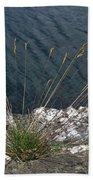 Flowers In Rock Bath Towel