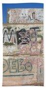 Wall Art Graffiti Concrete Walls Casa Grande Arizona 2004 Bath Towel