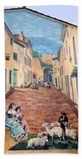 Wall Painting In Provence Bath Towel