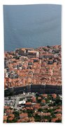 Walled City Of Dubrovnik Bath Towel