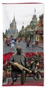Walt Disney World Transportation 3 Panel Composite 02 Bath Towel