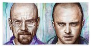 Walter And Jesse - Breaking Bad Hand Towel