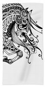 War Horse - Zentangle Bath Towel