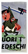 War Poster - Ww2 - Out With The Fuhrer Bath Towel