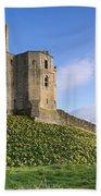 Warkworth Castle In Spring Bath Towel