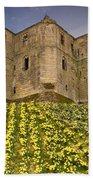 Warkworth Castle In The Sky Bath Towel