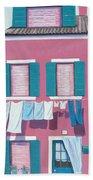 Washing Day Burano Venice Hand Towel