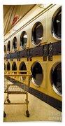 Washing Machines At Laundromat Bath Towel