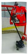 Washington Capitals Nicklas Backstrom Home Hockey Jersey Bath Towel