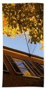 Washington D C Facades - Reflecting On Autumn In Georgetown  Bath Towel