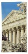 Washington Dc Cherry Blossom Supreme Court Bath Towel